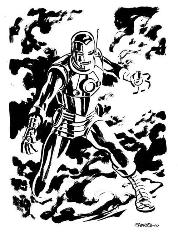 Iron Man Comic Art Iron Man Original Art Sketch