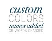 custom color / names added