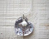 Domed Alert Medical Alert Pendant Necklace