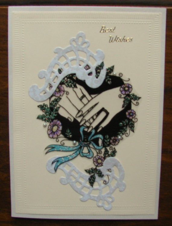Wedding Card with Two Hands