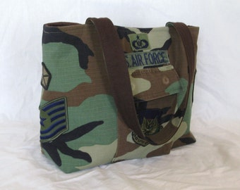 Upcycled Military Top Purse