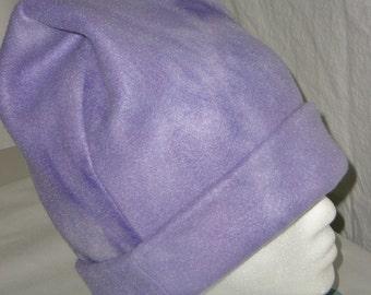 Purple Tie-Dyed Warm Fleece Hat