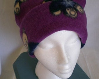 Little Bears on Purple Warm Fleece Hat