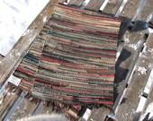 wool rug, 26x82