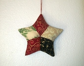 RESERVED for Bramleycards Christmas Tree Cotton Star Decoration Ornament