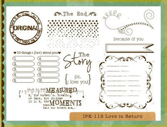 Unity - Ippity Stamps - Love in Return
