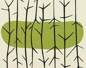 bundle of sticks, black on green -  fine art giclée pigment print