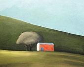 akaroa shed - pigment print