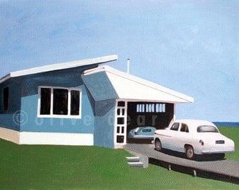 Mid Century Beach House - fine art print