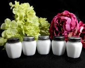 Vintage Milk Glass Cold Cream Jars