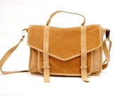 Cacique Satchel leather bag// Made to order  //Laptop bag