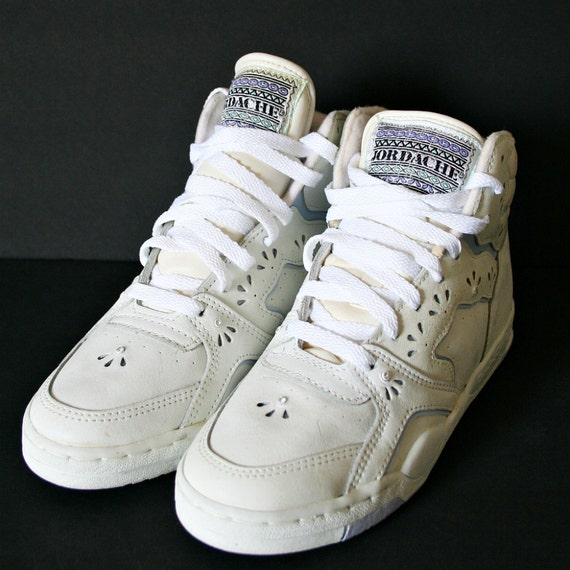 items similar to vintage 80s white jordache high top