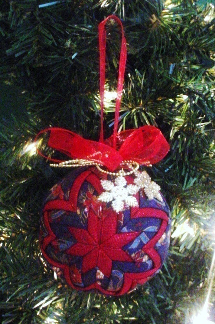 Christmas Tree Ornaments Quilted : Quilted christmas ornament pattern pdf tutorial holiday