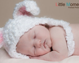 Crochet PATTERN Floppy Fuzzy Bunny Crochet Hat Pattern Includes 6 Sizes - Free Crochet Pattern for Diaper Cover also Included