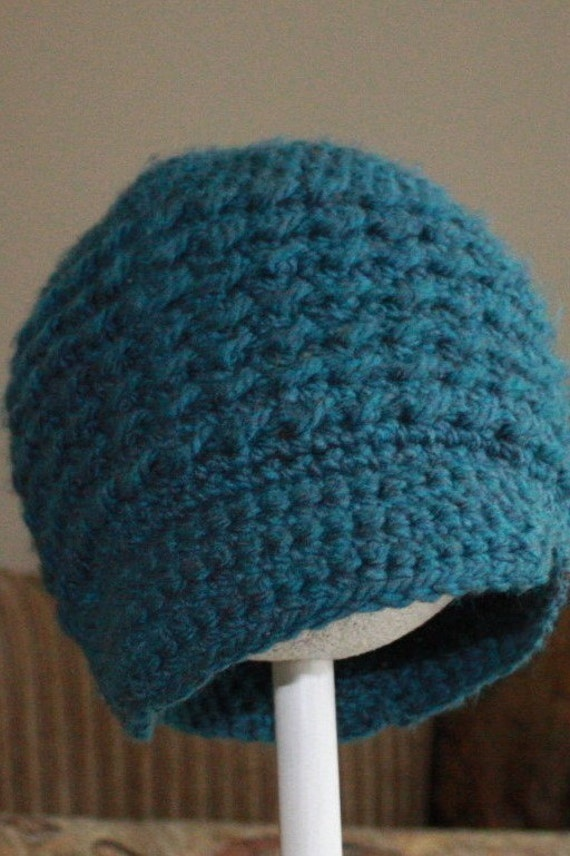 PATTERN CROCHET NEWSBOY CAP BEGINNER BULKY SIZES 12 MONTHS