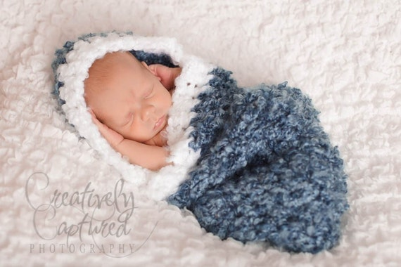Crochet Pattern Baby Cocoon With Hood : CROCHET PATTERN Newborn Hooded Cocoon by PrettyDarnAdorable