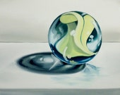 Original Oil Painting: Contemporary Marble