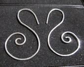 Sterling silver earrings - swirl