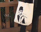 TOTE BAG with Audrey Hepburn
