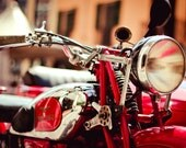 Italian Moto Guzzi - motorcycle vintage moto guzzi sidecar art, italy wall decor, fine art photography 8x12