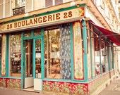 Paris Boulangerie 28 - French photography, bakery, Paris photo, watercolor, paris wall art 5x7