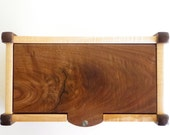 Keepsake Box in Black Walnut, Maple and Mother of Pearl. Jewelry Box