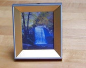 Framed Print of Looking Glass Falls ACEO size - Print of a picturesque waterfall in the Blue Ridge Mountains of Western North Carolina