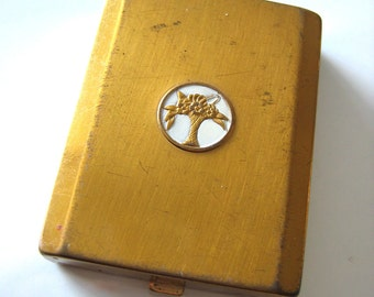 Vintage Cara Nome loose powder Compact.  Brass.
