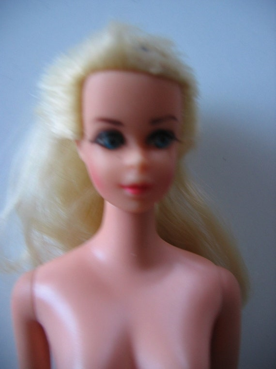Vintage 1108, Truly Scrumptious BARBIE doll.  1968 Mattel Mod.  Straight leg.  With labeled dress.