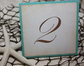 Wedding Table Number Cards - Hawaiian