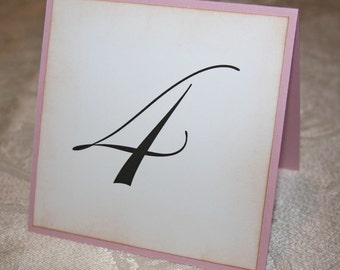 Wedding Table Number Cards - Lavendar