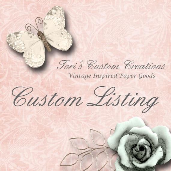 Custom listing for Kimberly Murphy