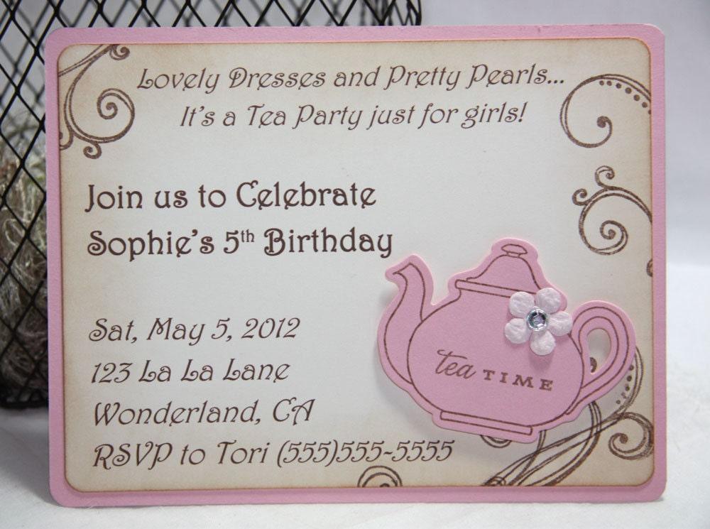 Vintage Tea Party Wedding Invitations: Unavailable Listing On Etsy