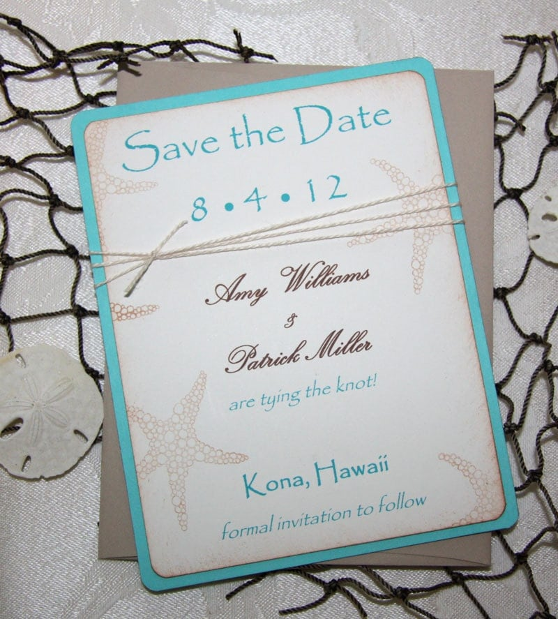 100 Beach Wedding Save the Date Cards Save the Date Wedding