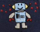 Robot Diaper Cover, Knit, Customized