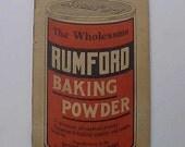 Vintage Art Deco Rumford Baking Powder Kitchen Advertising Booklet 1939 Ledger Book