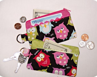 Fashion Owl Colorful Coin Purse