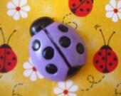 Purple Lucky Ladybug Pin