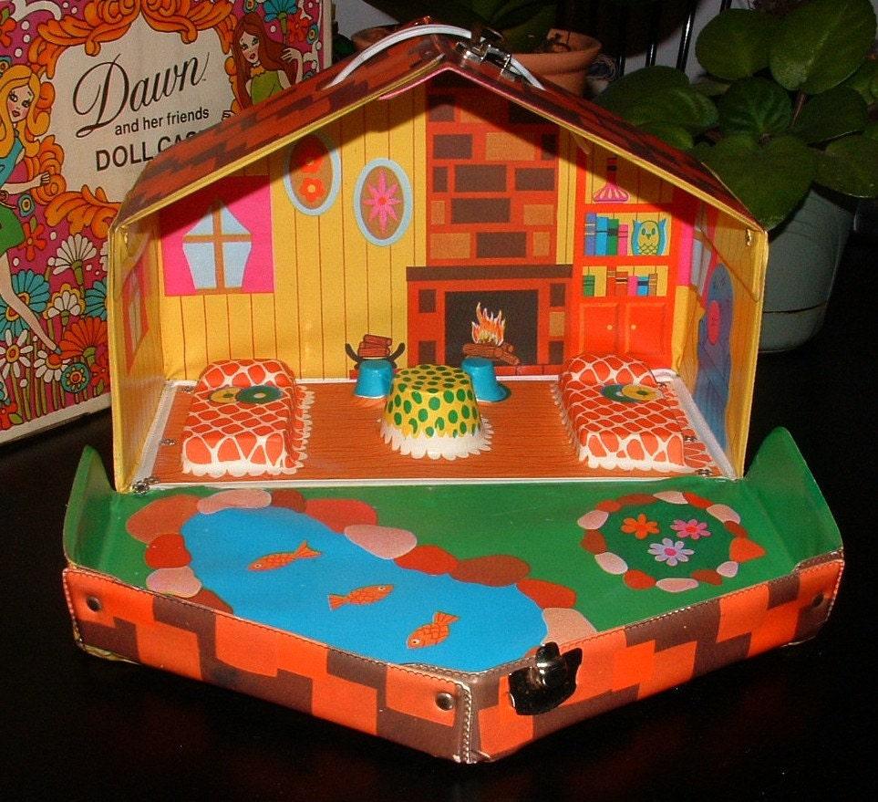 Liddle Kiddles Kabin Vintage Doll House Cabin For Liddle