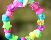 You Make Me SO Very Happy - Bright Fun Pony Bead Girls Bracelet by Cre8tiveQT