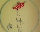 Picnic for two embroidery picture