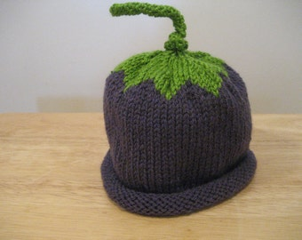 Toddler Plum Hat Knitted  Free Shipping With Purchase Of Another Item
