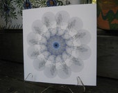 Art from Cell Biology, Generative art, Kaleidoscopic Cell 1a,  Limited Edition Giclee Print. Science Art Print