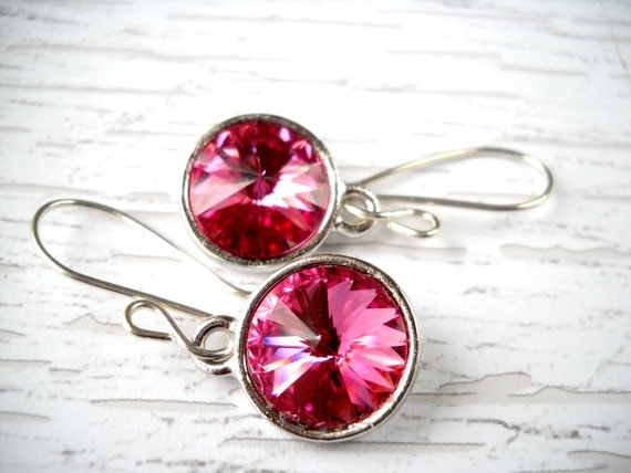 Pink Sterling Silver Earrings Under 30 Valentine