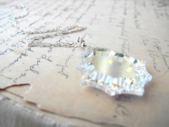 Swarovski Crystal Sterling Silver Necklace - Only one