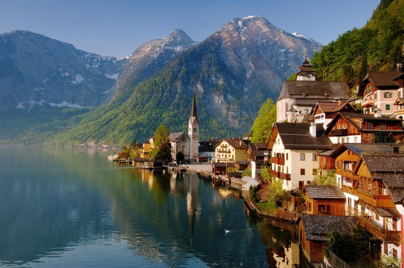 Fine Art Photograph First Light Hallstatt Austria