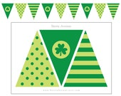 St. Patrick's Day Pennant Banner Bunting- Printable DIY Digital File