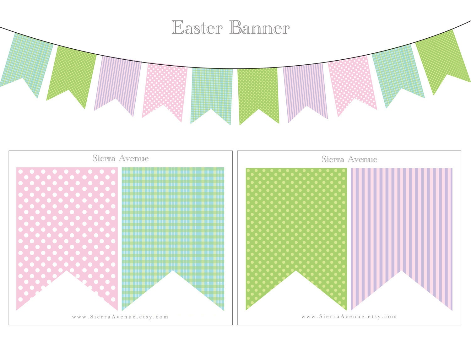 Selective image for easter banner printable