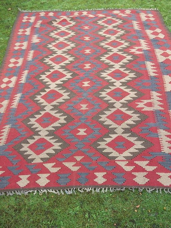 RESERVED FOR KATIEK: 9.3 x 6.5 feet.  Big Maimana Hand woven Rug/Kilim Mat. Traditional.