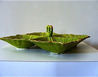 Vintage California Pottery Relish Serving Tray